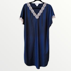 Vintage Lingerie Nightgown Negligee Night Shirt 1X